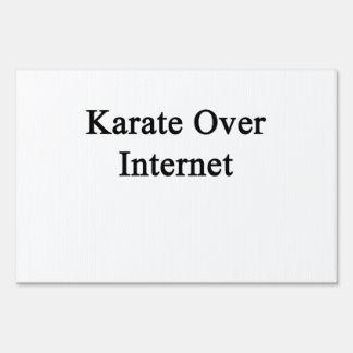 Karate Over Internet Sign