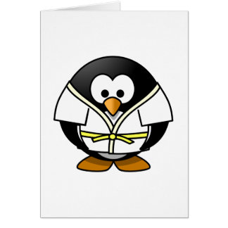 Karate Penguin Card