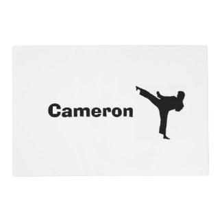 Karate personalizado Placemat Tapete Individual