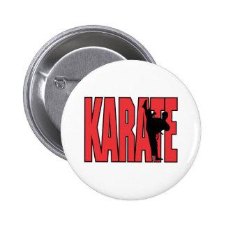 Karate Pin Redondo De 2 Pulgadas
