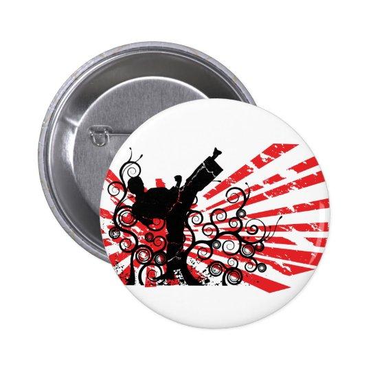 Karate Pinback Button