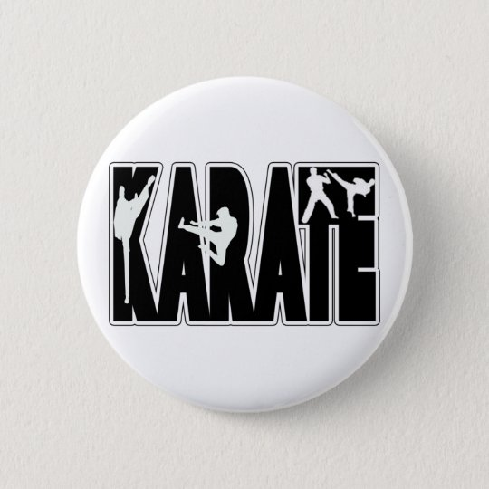 KARATE PINBACK BUTTON