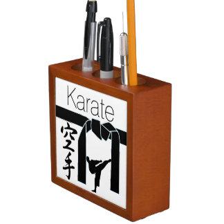 Karate plus your photo Pencil/Pen holder