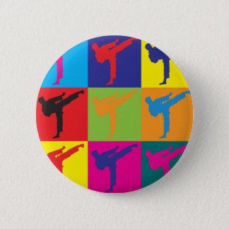 Karate Pop Art Button