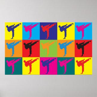 Karate Pop Art Poster