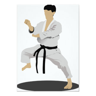 Karate Pose Invitations