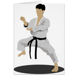 Karate Pose Note Cards