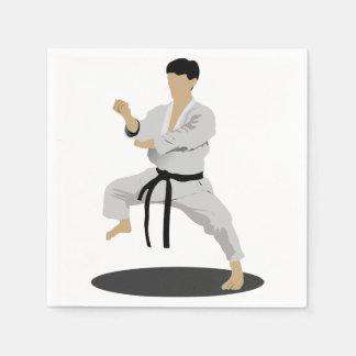Karate Pose Paper Napkins
