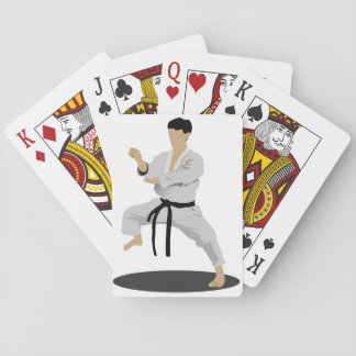 Karate Pose Playing Cards