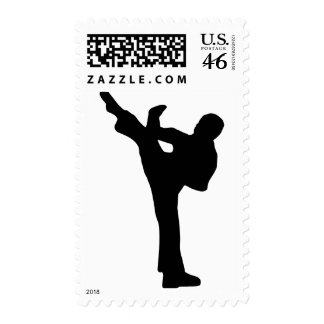 Karate Postage Stamps