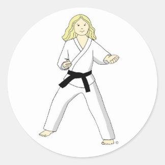 Karate Princess (blonde hair) Stickers