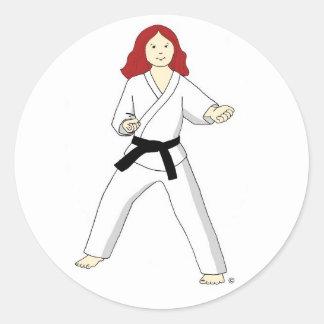 Karate Princess (red hair) Stickers