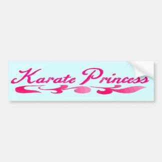 Karate Princess Swirl Bumper Sticker Car Bumper Sticker