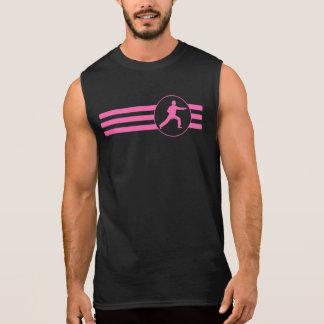 Karate Punch Stripes (Pink) Sleeveless Shirts