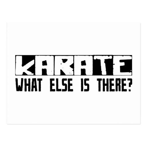 ¿Karate qué más está allí? Postales