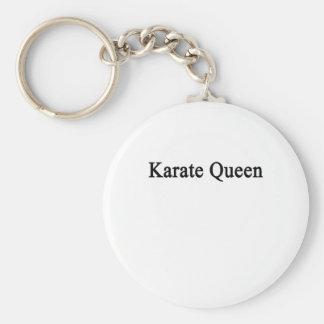 Karate Queen Basic Round Button Keychain