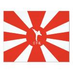 Karate Rays 4.25x5.5 Paper Invitation Card