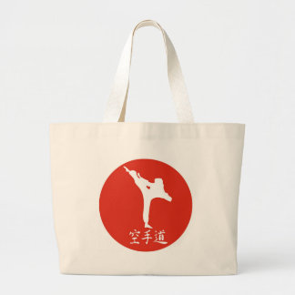 Karate Rising Sun Large Tote Bag