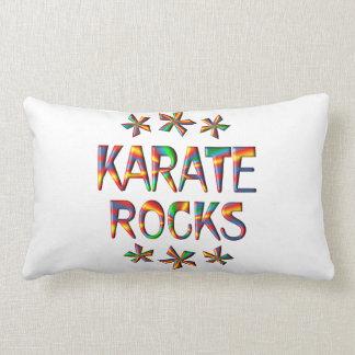 Karate Rocks Throw Pillows