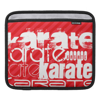 Karate; Scarlet Red Stripes Sleeves For iPads