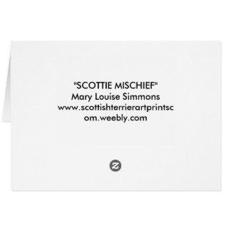 KARATE SCOTTIE CARD
