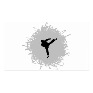 Karate Scribble Style Business Card