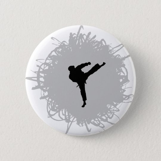 Karate Scribble Style Button