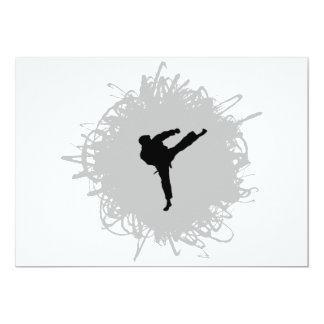 Karate Scribble Style Card