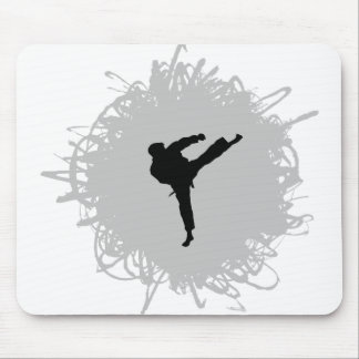 Karate Scribble Style Mouse Pad