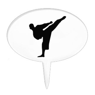 Karate Silhouette Cake Topper