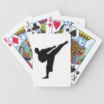 Karate Silhouette Card Decks