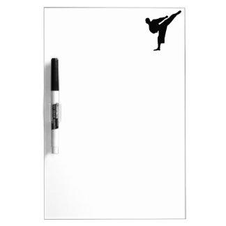 Karate Silhouette Dry-Erase Board