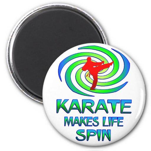 Karate Spins Fridge Magnets