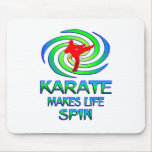 Karate Spins Mouse Pad