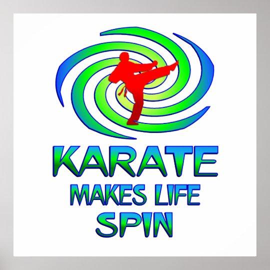 Karate Spins Poster