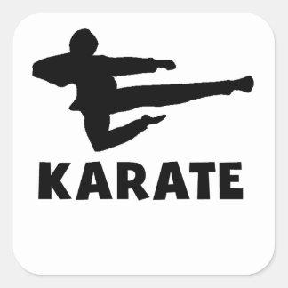 Karate Square Sticker
