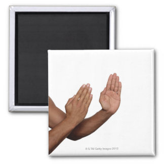 Karate Stance 2 2 Inch Square Magnet