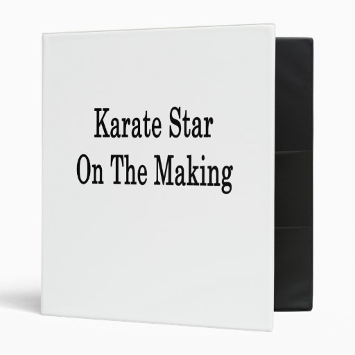 Karate Star On The Making 3 Ring Binders