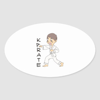 KARATE OVAL STICKERS