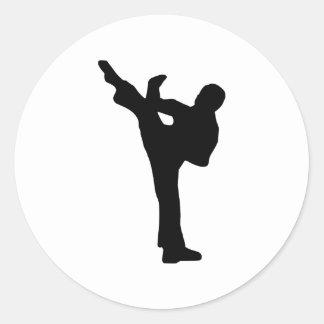 Karate Round Sticker