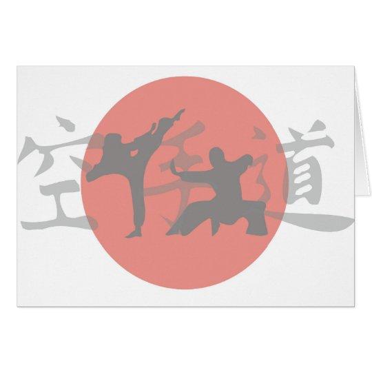 Karate Sun Card