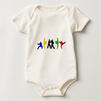 Karate Taekwando MMA Martial Arts Mens Athlete Baby Bodysuit