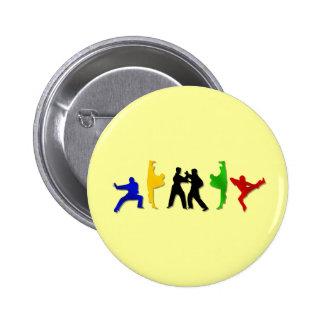 Karate Taekwando MMA Martial Arts Mens Athlete Pinback Button