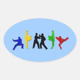 Karate Taekwando MMA Martial Arts Mens Athlete Stickers