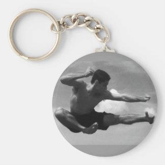 Karatê - the flyer basic round button keychain