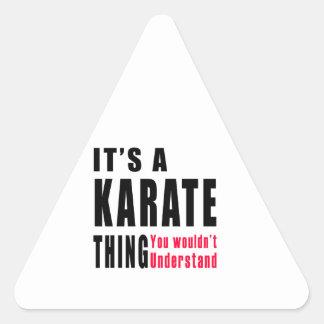 Karate Thing Designs Triangle Sticker