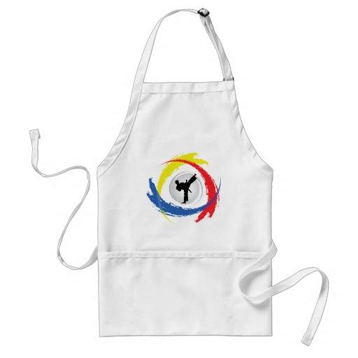 Karate Tricolor Emblem Apron