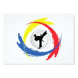 Karate Tricolor Emblem Card