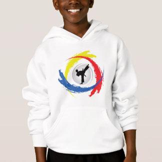 Karate Tricolor Emblem Hoodie