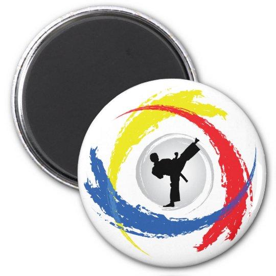 Karate Tricolor Emblem Magnet